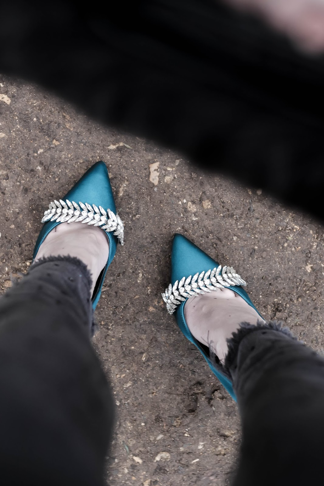 Lost Ink Ally Turquoise Stiletto Heels
