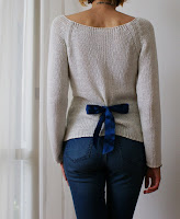 nosew bow back sweater diy