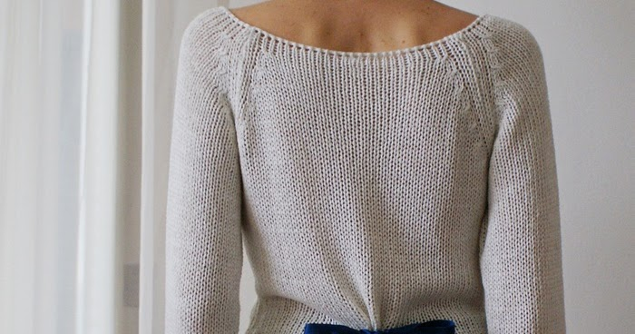 DIY NO SEW BOW BACK SWEATER   Francine's Place