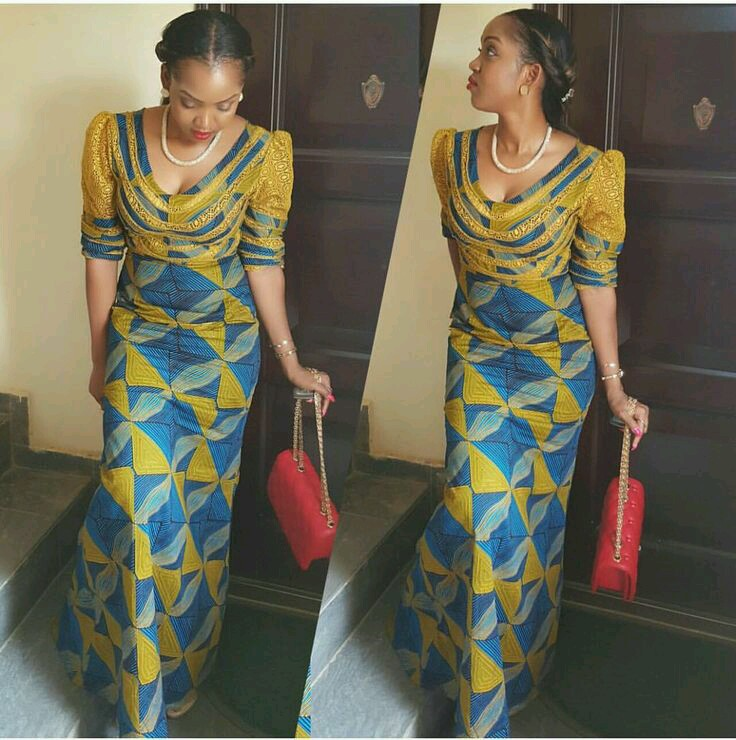 Latest Ankara Long Gown Style