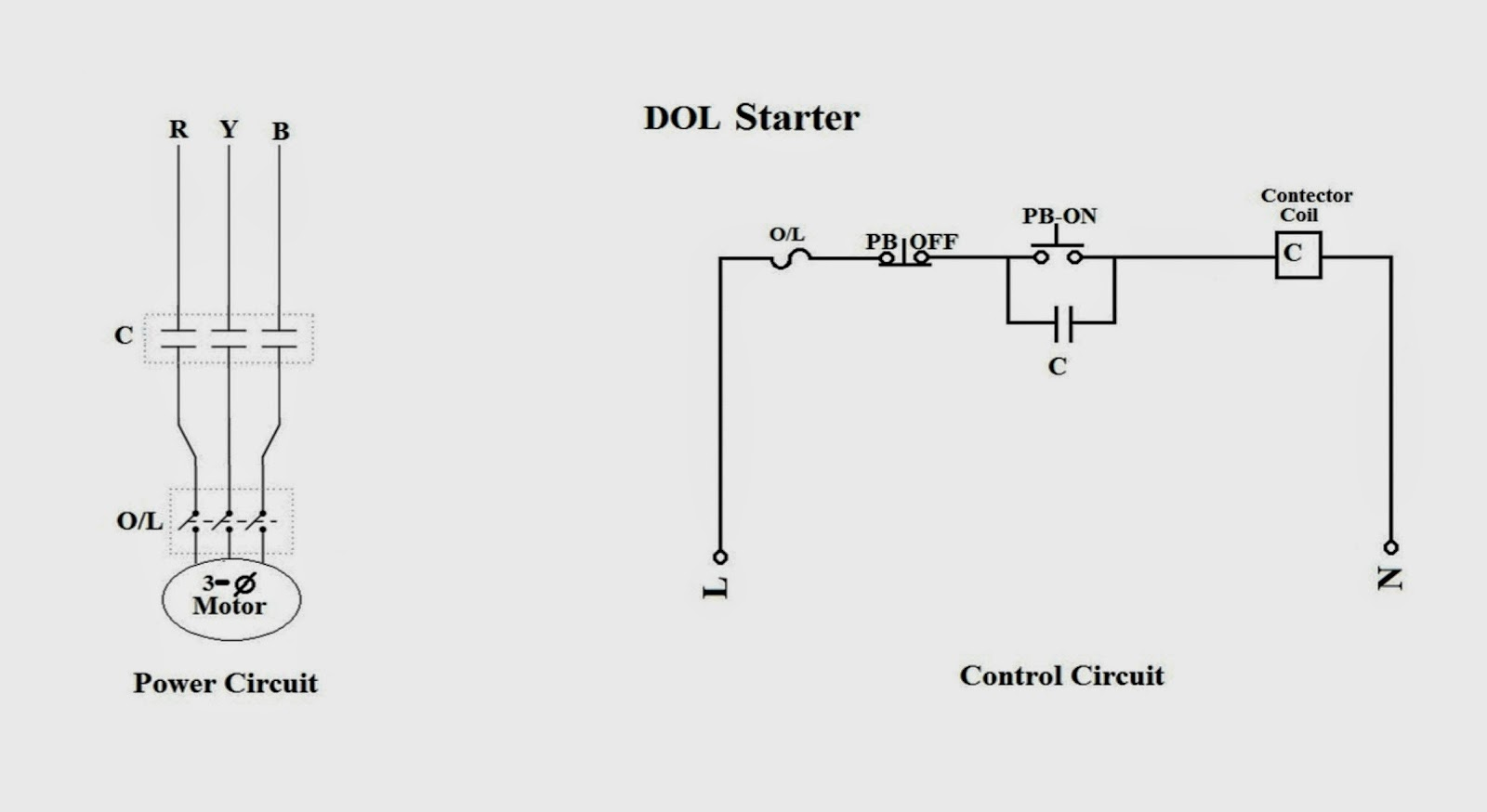 Control Wiring Diagram Of Dol Starter 48 Volt Club Car Training Report On Bokaro Steel Plant Common Electrical
