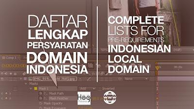 Persyaratan Domain Lokal Indonesia