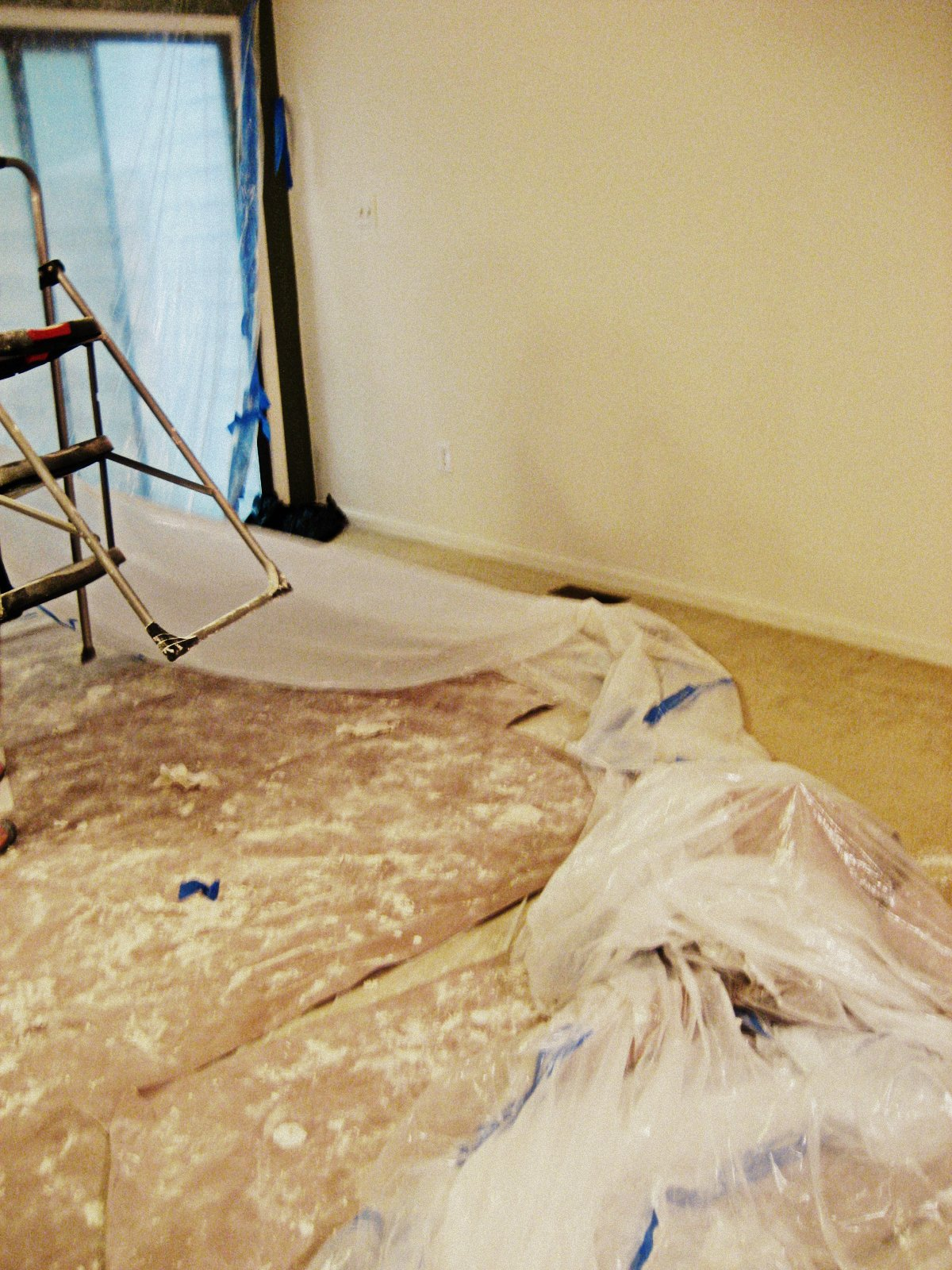 31 diy: How to Remove Popcorn Ceiling Texture {tutorial}