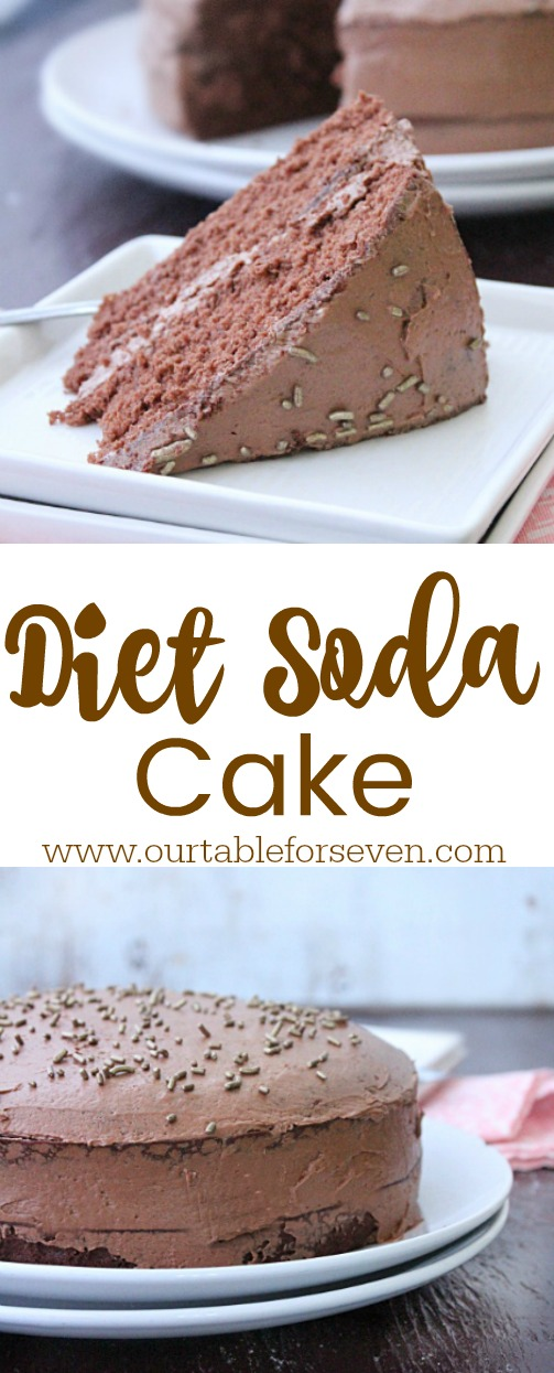 Diet Soda Cake from Table for Seven: All you need is three ingredients for this delicious, guilt-free cake!