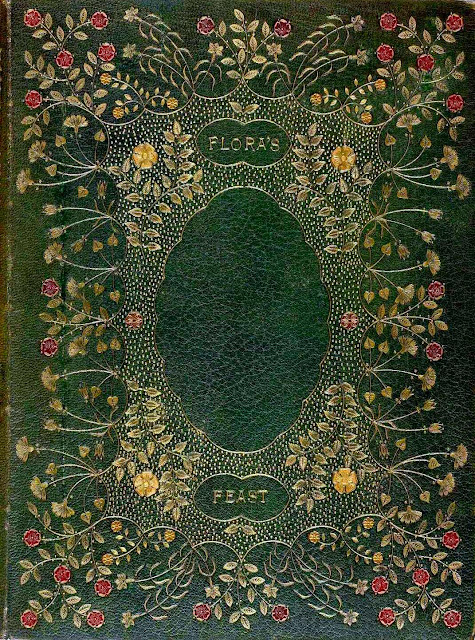 An old bookbinding of Flora's Feast