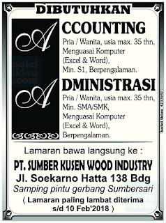 Loker PT. Sumber Kusen Wood Industry