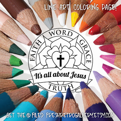 Luther Rose coloring page art