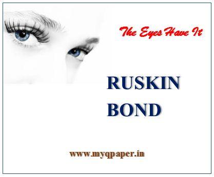 the eyes have it ruskin bond summary