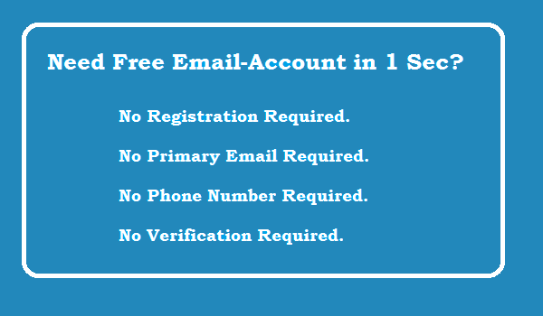 Free Testing Email Address Without verification