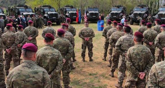 US donates 37 military vehicles to Albania
