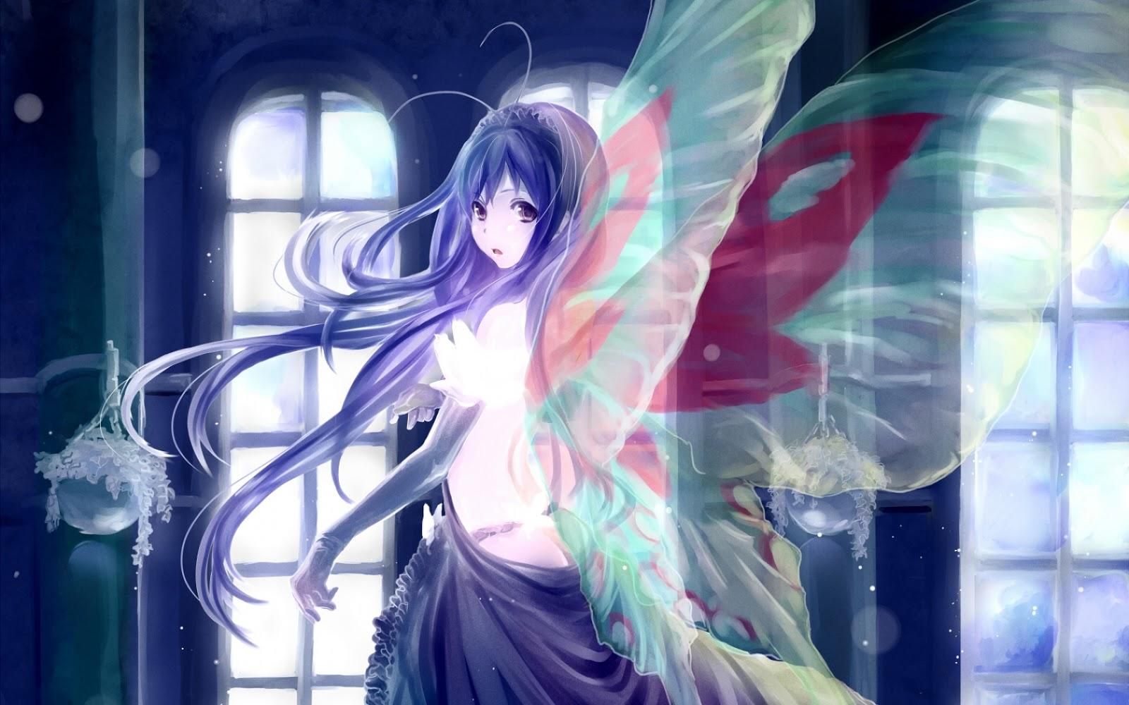 Hd Wallpaper Accel World Kuroyukihime Butterfly Wings 0011