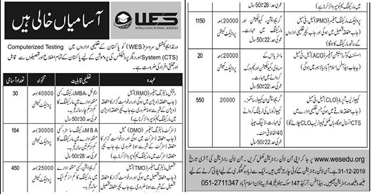 World Educational Services (WES) Jobs 2020