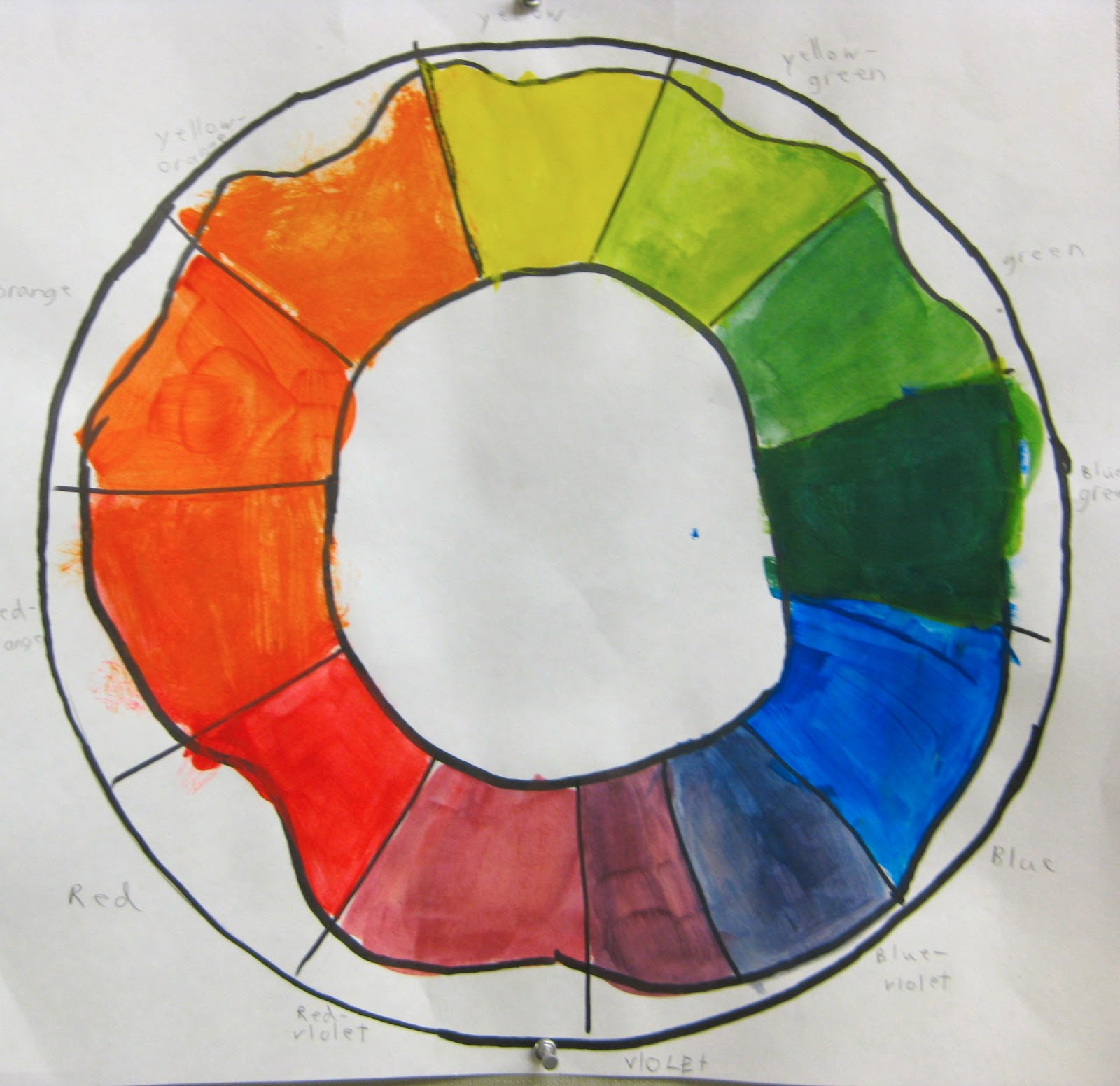 For This Color Wheel Project Each Student Was Given An Object To Turn Into A Some Items Included Beach Ball Clock Peacocks Fish
