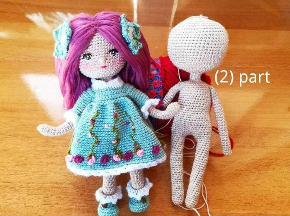 Amigurumi Bebekler İçin Elbise Yapımı - Örgü Modelleri | 717x960