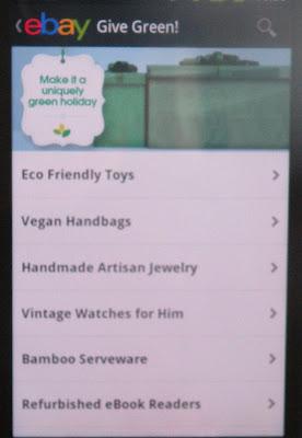eBay App Give Green