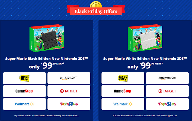 Black Friday Offers Super Mario Black White Edition New Nintendo 3DS