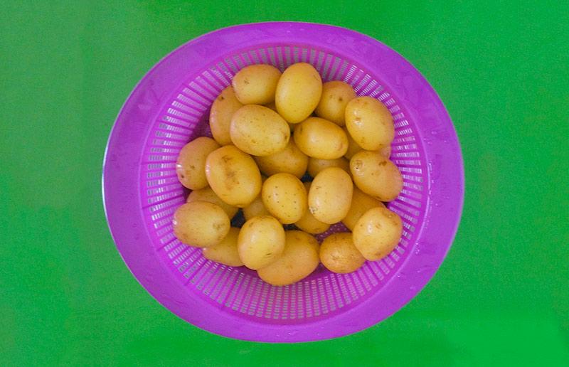 Ingrediente principal para batatas calabresas