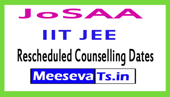 IIT JEE Mains Rescheduled Counselling Dates 2017