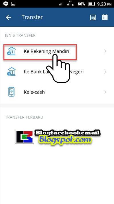 memilih bank tujuan