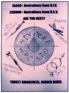 Anti-HIV promo material, Queensland