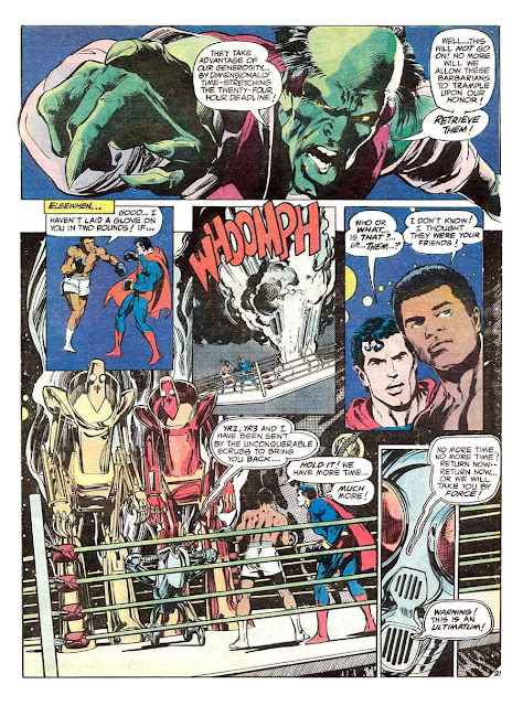 Superman vs. Muhammad Ali dc comic book page art by Neal Adams
