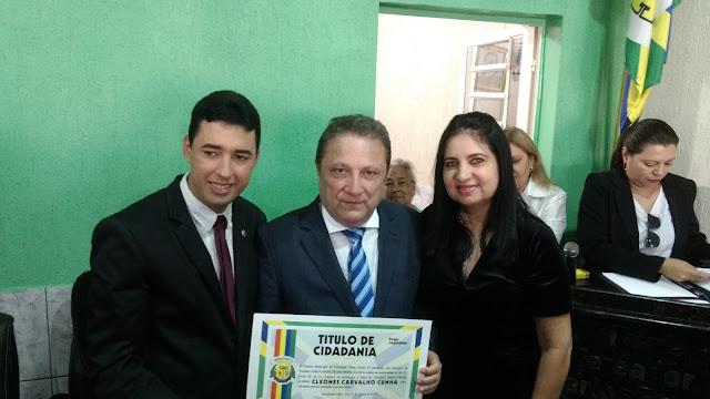 O presidente do TJ desembargador Cleones Carvalho Cunha é homenagiado na cidade de Presidente Dutra-MA com título de cidadão