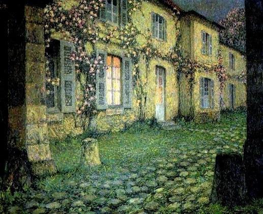 La casa de las rosas, 1930 - Henri Le Sidaner, Gerberoy, Francia