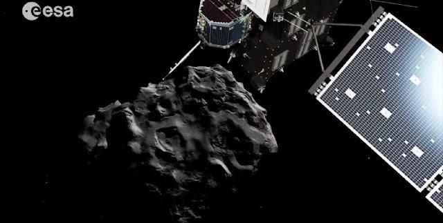 Rosetta Philae kuyruklu yıldıza iniş videosu video görüntüleri resimleri