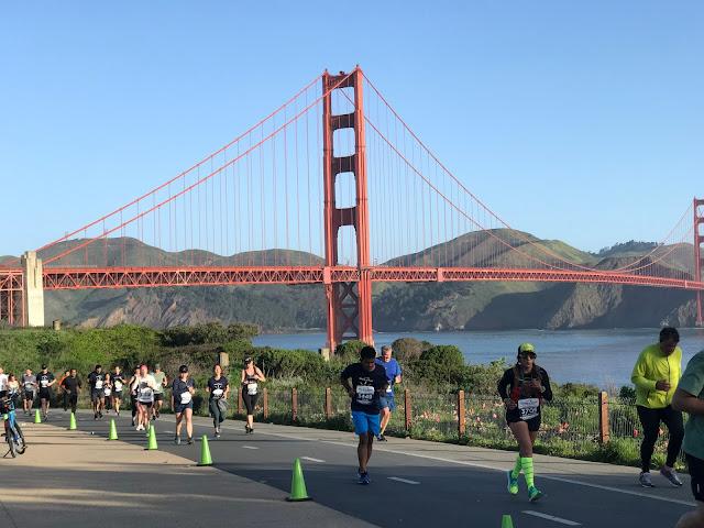 Rock'n'Roll San Francisco Half Marathon golden gate bridge