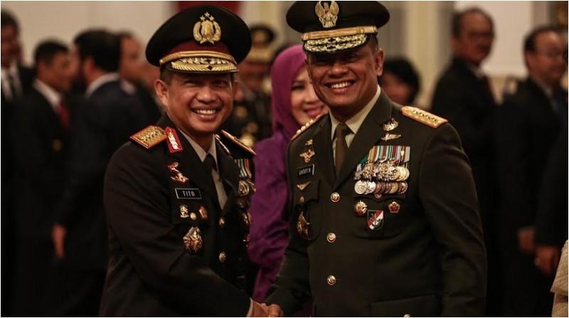 Panglima TNI Gatot Nurmantyo dan Kapolri Tito Karnavian