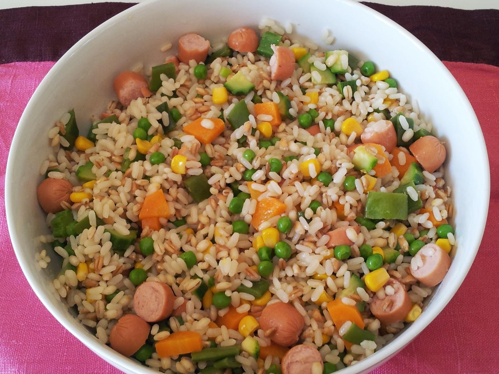La cucina di bea insalata di riso farro e orzo con verdure for Insalate ricette