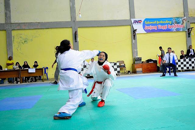 Potret Arena, Kejuaraan Karate Indonesia, Kumite Putri, Pekan Olah Raga Aceh