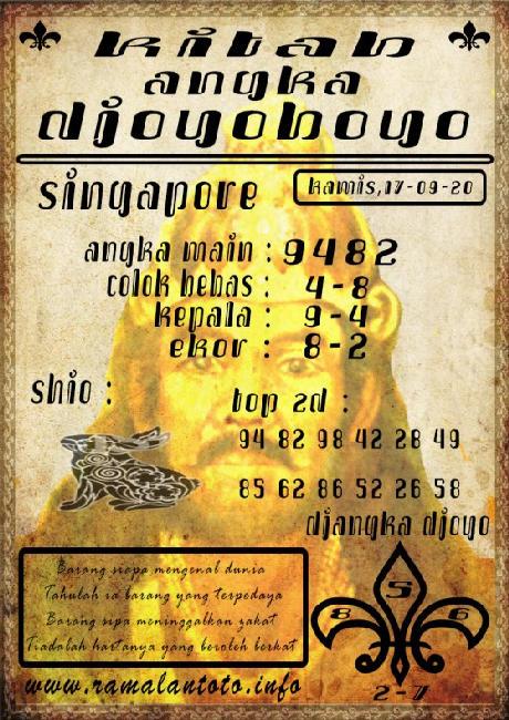 Kode syair Singapore Kamis 17 September 2020 119
