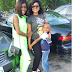 Mercy Aigbe steps out with her kids (Photos)