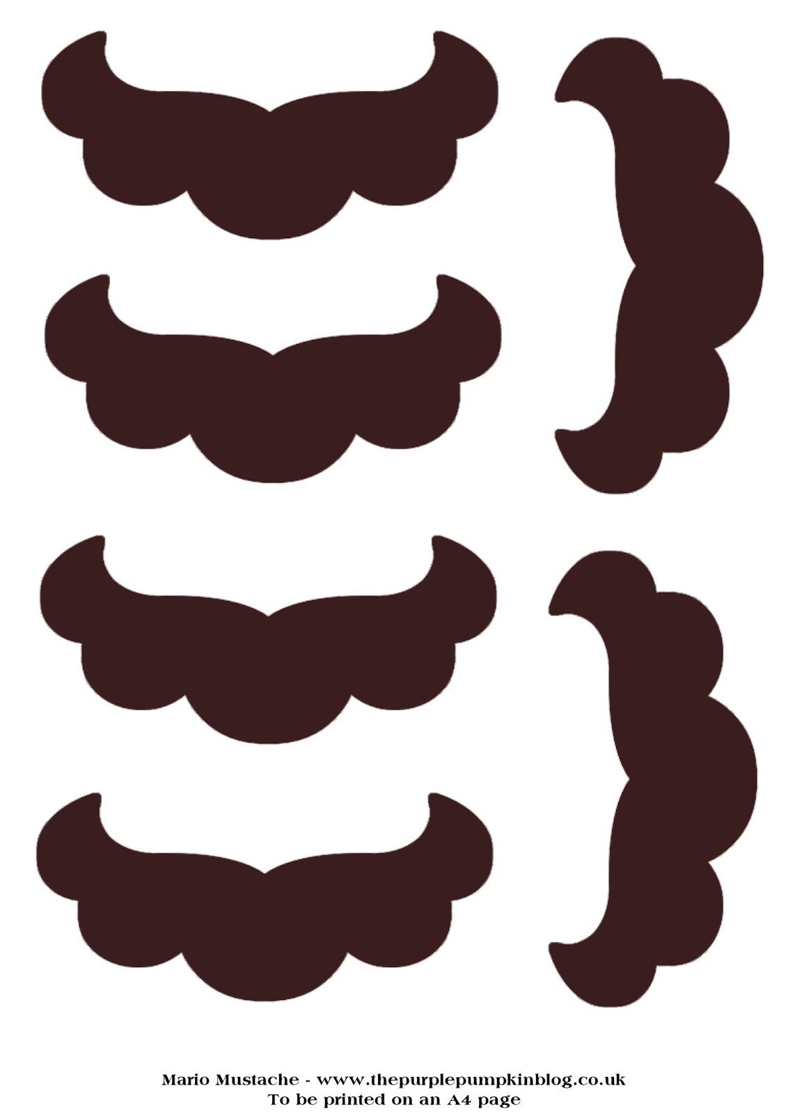 mustache print out template - mario bro party on pinterest super mario bros mario