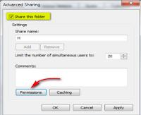 Sharing Data di Windows 7