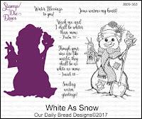ODBD White As Snow Stamp/Die Duos