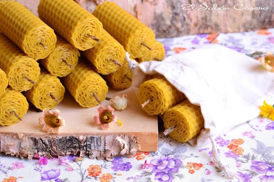 Detalles naturales para invitados bodas comuniones bautizos velas de miel
