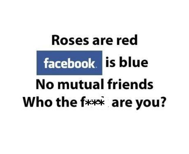 Facebook Poem LOL :P #very funny