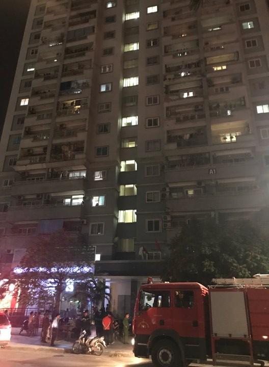 Toàn cảnh đám cháy chung cư A1 Mỹ Đình