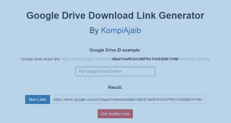 Google Drive Download Link Generator