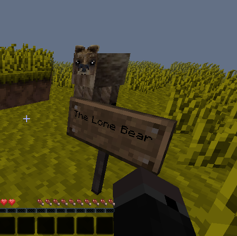 The Lone Bear: The Lone Bear in Minecraft!