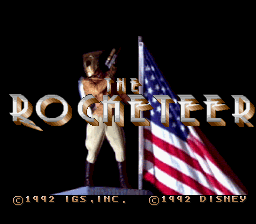 The Rocketeer SNES title screen