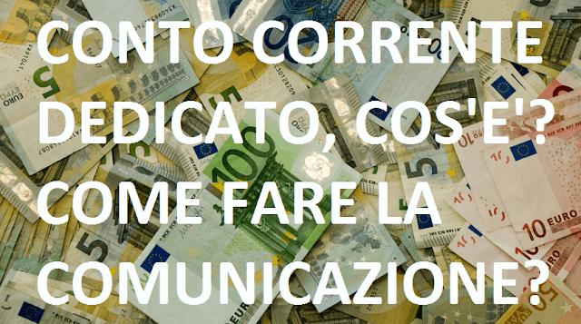 Modello comunicazione conto corrente dedicato (modulo)