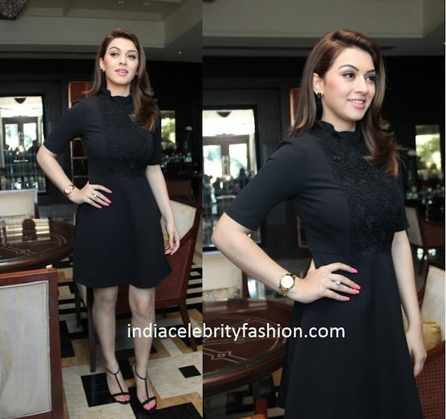 Hansika Motwani in Black Dress