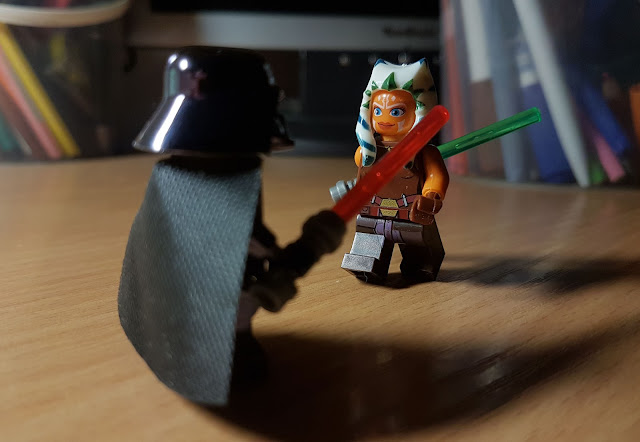 Ahsoka Tano and Darth Vader fan art Star Wars