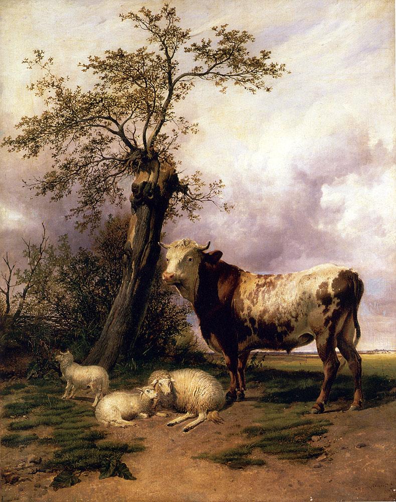 Painting of Thomas Sidney Cooper artist, Thomas Sidney