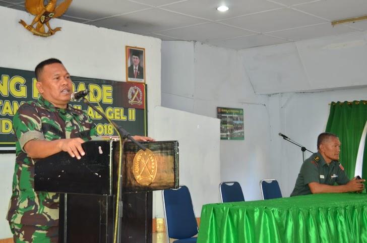 Korem 141/Tp, TA 2018, Mengirim Calon Prajurit Tamtama Sebanyak 116 Orang ke Rindam