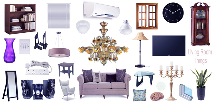 Things Names: Living Room Things Names & Pictures