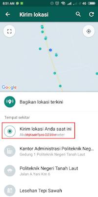 Cara Mudah Mengirim Lokasi GPS di WhatsApp